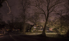 365-16 (• estatik •) Tags: 36516 365 16 january162017 jan mon monday mlk martin luther king jr day holiday bucks county new hope solebury centerbridge phillipsmill historic night longexposure panorama home house street road river 32 route north trees