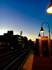 Elevated Tracks - NYC (verplanck) Tags: mta traintracks twilight dusk williamsburg nyc brooklyn elevatedtrain subway