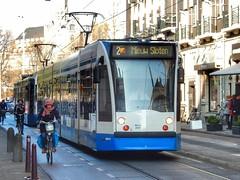GVB Combino (sander_sloots) Tags: combino siemens amsterdam tram tramway fietsers cyclists trammetje bn g11 aeg seilkoffer 150 spandraadverlichting