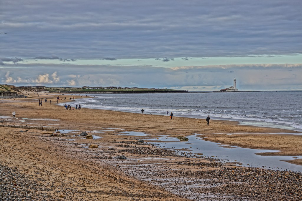 Whitley Bay beach, North Tyneside - HDR Painting Effect