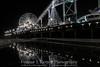 Watery Rides (Connar L'Ecuyer) Tags: socal night cityscape pier water city santamonica la beach ocean longshutter longexposure seascape wharf waves sea rides