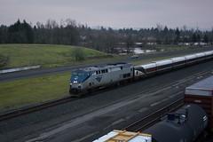 Amtrak 508 from the Maxwell overpass (Tom Trent) Tags: f59phi amtrak amtrakcascades up unionpacific yard eugene oregon lanecounty p42dc ge diesel locomotive talgo passenger train