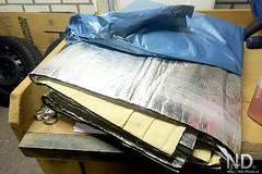 Sound Insulation (ND-Photo.nl) Tags: toyota aygo c1 citroen peugeot 107 zwart black diy repair maintenance sound proofing mat mats dynamat soundmat absorption reflection chrome bitumen