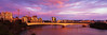 Stained Glass Brisbane (Martin Canning) Tags: 617 australia brisbane brisbaneriver fuji fujig617 g617 kangaroopoint martincanning martincanningcom queensland southeastqueensland city cityscape clouds colour colours film landscape light lightscape panorama panoramic photography pink pinkclouds sunrise velvia velvia50