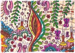Doodle 112 (kraai65) Tags: doodle zendoodle zentangle colourdoodle drawing