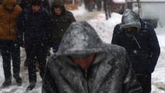 şişli'de karlı bir gün