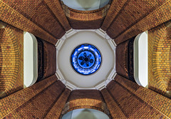 under the bells (Blende1.8) Tags: französischerdom berlin interior indoor architecture architektur glocken bells ziegelstein backstein symmetry symmetrie germany lines geometry geometrie carstenheyer nikon d700 1635mm