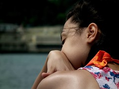Bulharsko/ Bulgaria (Kub H) Tags: premýšľajúca žena na mori thinking through woman lady sea boat ship loď more bulharsko bulgaria šaty kvety dress flowers zasnená dreaming