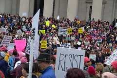 """""""Resist"""" (railsnroots) Tags: demonstrations first amendment womens march protest signs"""