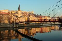 Only Lyon (Croix-roussien) Tags: lyon saone reflection saône river church bridge france light