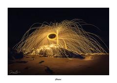Chispas... (Canconio59) Tags: lanadeacero chispas lightpainting nocturna galicia españa spain nightshot largaexposición