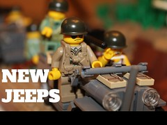 The Jeeps are Here! (pvt. eugene krabs) Tags: ww2 pacific willys us army moc brickarms vehicle
