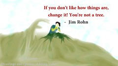 If you don't like how things are, change it! You're not a tree. Jim Rohn Drawing (PilTil.com Artist, Drawings, Creative Quotes) Tags: drawing boy tied quotes motivational crying painting