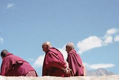 Geluppa monks praying (travelben) Tags: monks praying diskit monastry nubra valley ladakh inde india tibetan boudhism tibet himalayan nubravalley jammukashmir moine monk monastère gompa monastery jammu kashmir himalaya budhism mountains geluppa color portrait yellow hat bonnet jaune nuages ciel bleu blue sky clouds