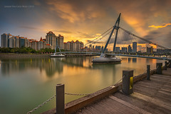 City Sunset (Johann Von Carlo) Tags: city bridge light sunset sky canon singapore cityscape lee suspensionbridge manfrotto 6d 1740l tanjongrhu eos6d leefilters canonsingapore canonsg