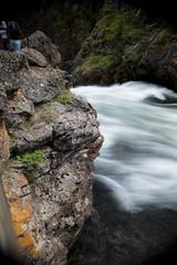 Lichen and rush (back stage) Tags: longexposure fern nature water outdoors motionblur waterfalls granite yellowstonenationalpark lichen yellowstoneriver sonyalpha77v