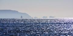 Needles (falcon3547) Tags: sea sky water rocks isleofwight yachts