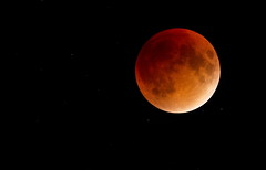 Blood Moon - Lunar Eclipse (Padrone) Tags: moon blood cloudy lunareclipse bloodmoon highiso supermoon