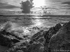 Caspersen Splash (DonMiller_ToGo) Tags: longexposure sunset sky blackandwhite bw nature landscape seascapes florida sunsets beachlife g5 beaches skyscapes hdr bwphotography blackandwhitephotography ndfilter skycandy slowwater 5xp hdrphotography 5exposures beachphotography sunsetmadness sunsetsniper caspersensbeach