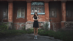 Jeanne (ivankopchenov) Tags: city light summer portrait people building window girl wall natural outdoor young