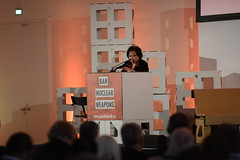 Setsuko Thurlow calls for a ban at the ICAN Civil Society Forum