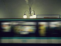 Blurred - 10 (Rino Alessandrini) Tags: paris station speed subway wagon movement gallery stop movimento moved stazione metropolitana metropolitan galleria parigi mosso fermata velocita vagone metrò