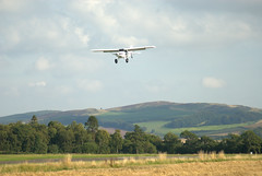 Maule MX-7 N3110J (davidmcilroy) Tags: heron beautiful sunshine vintage scotland airport aircraft aviation perth scone piper flyin eurocopter grob socota