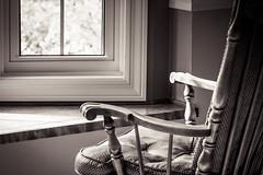 Come, Sit a Spell (Watermarq Design) Tags: blackandwhite window relax chair naturallight rockingchair hww windowwednesdays