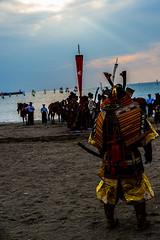 逗子海岸 流鏑馬  horseback archery (Mori.Kei) Tags: samurai bushi 侍 武士 流鏑馬 逗子海岸