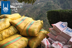 Supplies being distributed in Baasi, Shangla, KPK, Pakistan