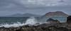 Corralejo, Fuerteventura (joanjbberry) Tags: sea sky mountains water landscape island coast rocks waves hills lobos canaryislands corralejo splashingwater costaline fuerteventura