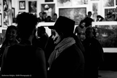 DAMNED VIII (MorboKat) Tags: art halloween monochrome gallery crowd detroit galleries cocktail reception artshow tangentgallery damned artspace darkart tangent galleryshow devilsnight damnedshow thatdamnedshow devilseve damnedshoeviii damnedviii damnedshowviii thatdamnedshowviii
