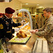 Thanksgiving meal at Del Din Dining Facility