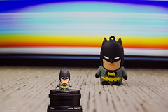 In front of himself (Vinicius_Ldna) Tags: brazil canon lens 50mm colorful flash bat batman londrina pendrive morcego colorido 10469 540ez