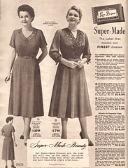 Spring and Summer 1955 Lane Bryant (vintagestitches) Tags: ladies 1955 fashion vintage dress jewelry 1950s crepe catalog rayon bows mailorder tucks acetate lanebryant plussize viscose supermade sidezipper veniselace durabac