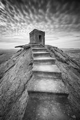 Stairway to heaven(explore) (Rafael Díez) Tags: españa blancoynegro paisaje navarra filtro largaexposición arguedas bardenasreales rafaeldíez