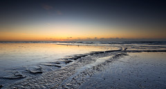 Streaming (Through Bri`s Lens) Tags: sea beach sussex sand stream seagull lowtide lancing shorehambysea brianspicer canon5dmk3 lee09ndgrad canon1635f4