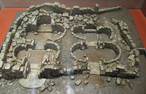 Ggantija model in the Archaeological Museum, Valletta