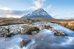 20161227 002 Buachaille Etive Mor (Wm) (GHL Digital) Tags: scotland mountains landscape river lochan glenetive buachailleetivemor sky clouds ice