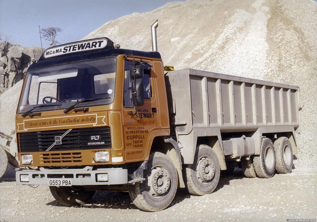 Volvo FL7 8X4 Tipper MCampMA Stewart Betapix Tags Holme Park Quarry