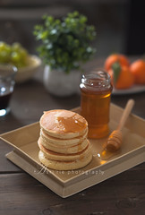 hot cake/japanese style pancake (asri.) Tags: 2017 darkbackdrop homemade foodstyling foodphotography 85mmf14
