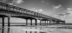 Boscombe Pier (clive_metcalfe) Tags: pier boscombe dorset uk blackwhite mono seaside ocean water beach bournemouth southcoast coast monochrome canon 5dsr eos waves