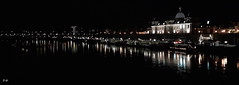 Good Night Dresden (S.Garten) Tags: evening dresden elbe river mirrow shining light dark water building night