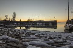 Porto innevato (_milo_) Tags: angera sole sun neve snow italia italy canon eos 60d 14 walimex porto lago