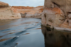Flooded canyon. Lake Powell (Lena and Igor) Tags: travel us usa america arizona canyon lake powell water reflection rocks scenic landscape waterscape dslr nikon d7000 nikkor 18300