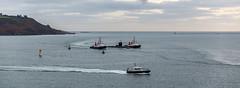 Submarine Escort (trevorhicks) Tags: plymouth sound hoe devon water harbour submarine tamron canon 6d