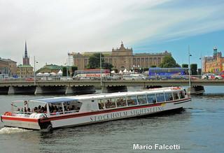Sweden: Stockholm: parliament, from Blasieholmen
