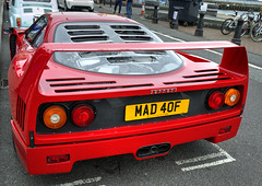 Rear end (Greatdog) Tags: poole dorset carsonthequay ferrari ferrarif40