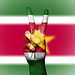 Peace Symbol with National Flag of Suriname