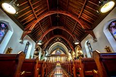 St. John the Evangelist Episcopal Church, Newport, RI (Explored 15 March 2017) (Ian Charleton) Tags: church episcopal stjohntheevangelist zabriskie sanctuary nave woodwork stainedglass newport rhodeisland architecture